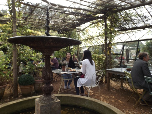 Lunchtime at Petersham Nurseries