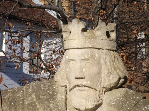King John depicted in Egham