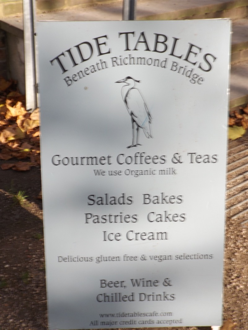 Tide tables cafe under richmond bridge the thames path by leigh hollyhock caf also run by the same management is hollyhock caf in nearby terrace gardens it has good view over the river from its high position nvjuhfo Choice Image