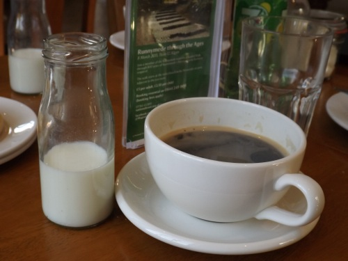 Magna Carta Tearoom's third of a pint milk bottle