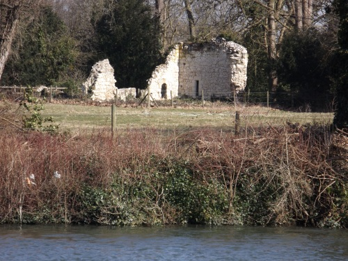 Ankerwycke Priory can now be seen from the Thames Path
