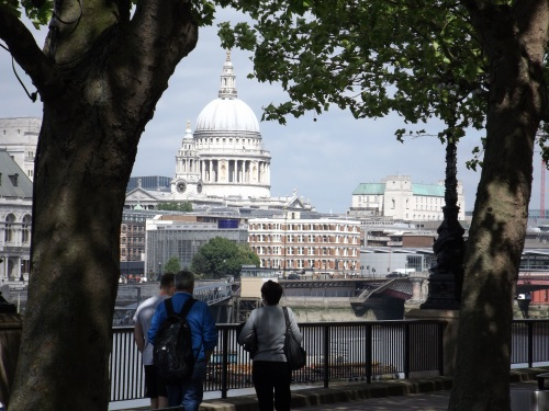 The famous view of St Paul's would be lost behind the Garden Bridge and the new building