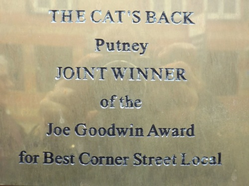 Joe Goodwin Award plaque
